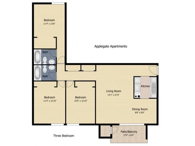 3 bedroom AP