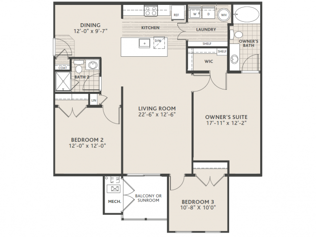 3 bedroom 2 bath (Large)