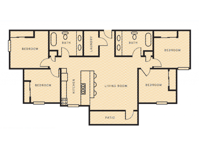 4 Bed 2 Bath Apartment in Laramie WY Campus Habitat Laramie