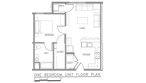 1 Bed 1 Bath Apartment in Fort Drum NY – Fort Drum Housing Floor Plans