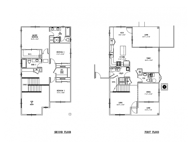 For The 3 Bedroom New Single Family Home Schofield, AMR Floor Plan.