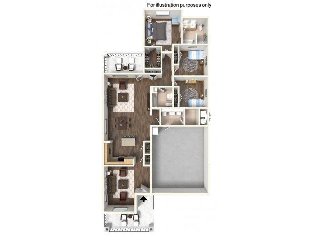 Floor Plan 8 | Ft Hood Housing | Fort Hood Family Housing