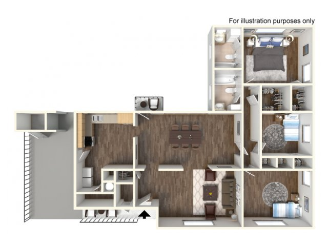 Floor Plan 9 | Fort Hood Family Housing | Fort Hood Family Housing