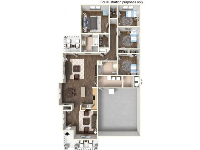 Floor Plan 23 | Ft Hood Housing | Fort Hood Family Housing