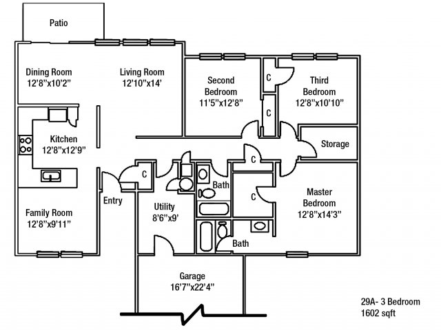 Junior Enlisted 3 BDRM Floor Plan | On Post Housing Fort Drum
