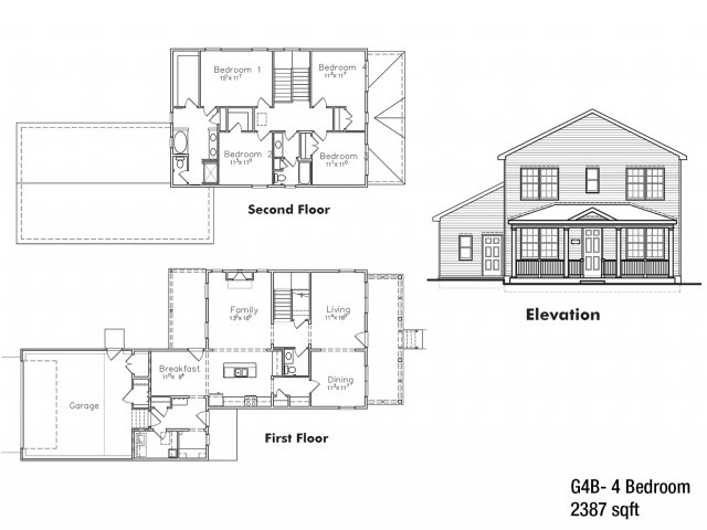 4 BDRM Sergeant Major Floor Plan | Fort Drum Apartments