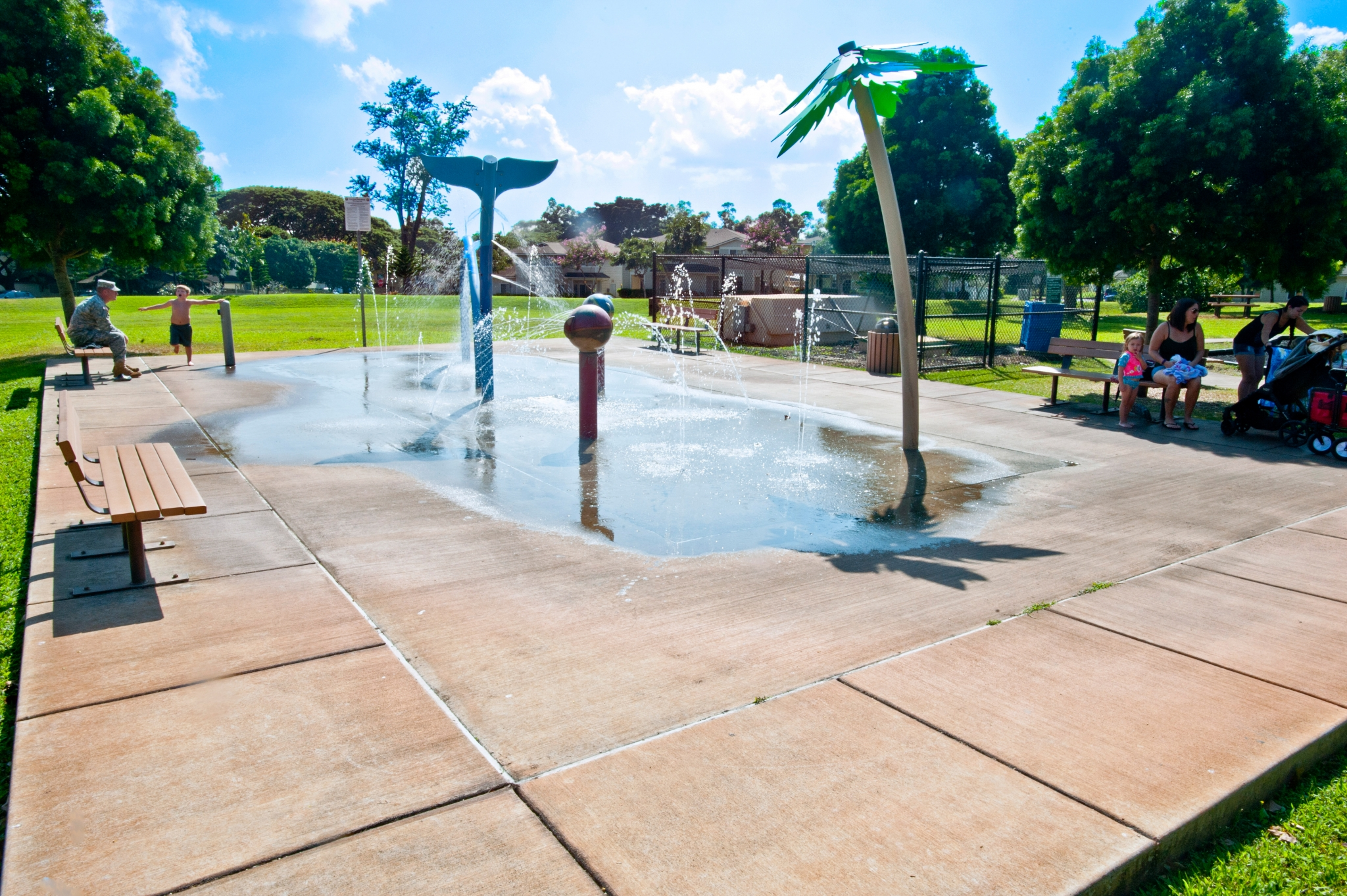 Spray Park   Family Fun Right at Home   On Post Housing Schofield Barracks
