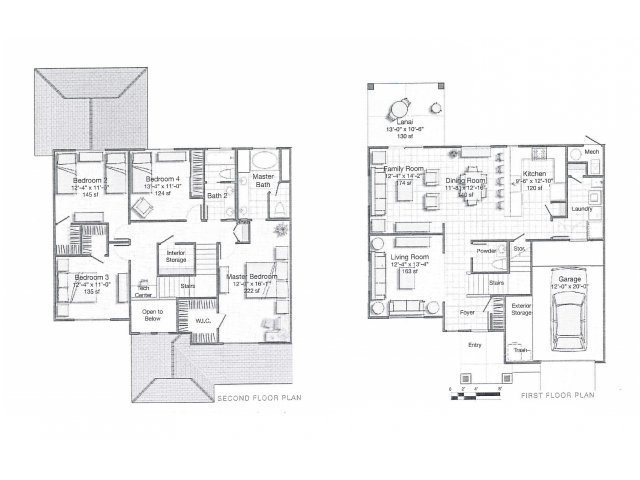 4 Bedroom Floor Plan | hickam housing floor plans | Hickam Communities