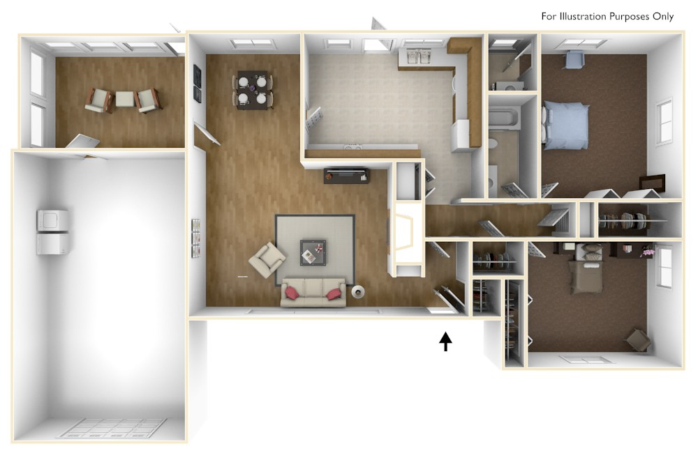 Laurel Bay Aiken 3D Floor Plan