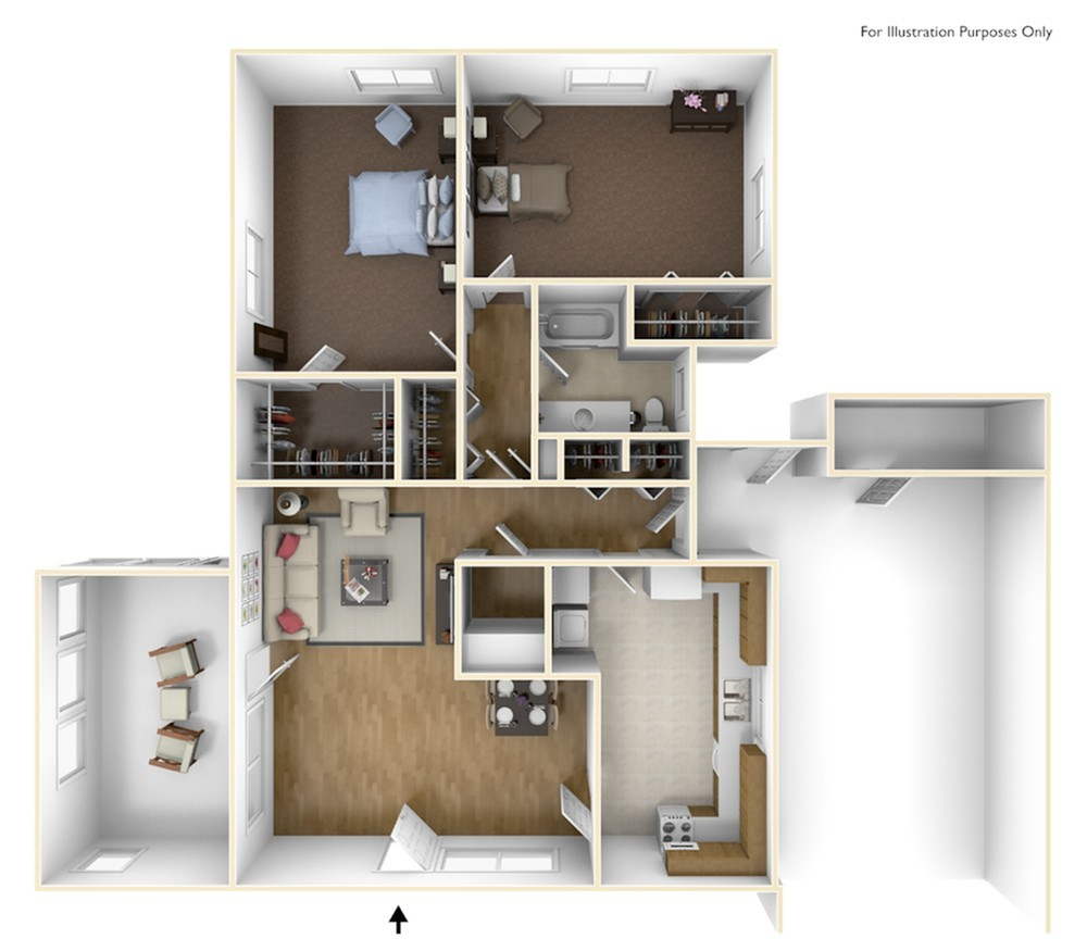 Laurel Bay Estill II 3D Floor Plan