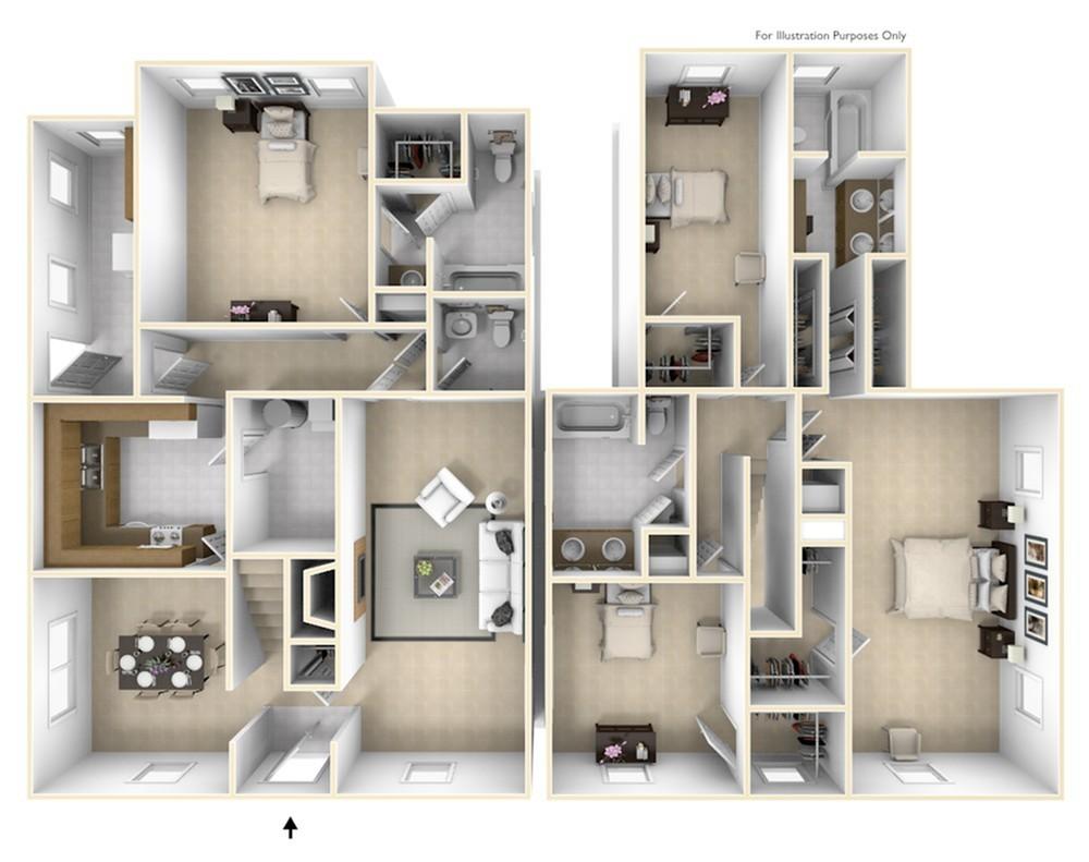 Grant\'s Landing Bauer 3D Floor Plan