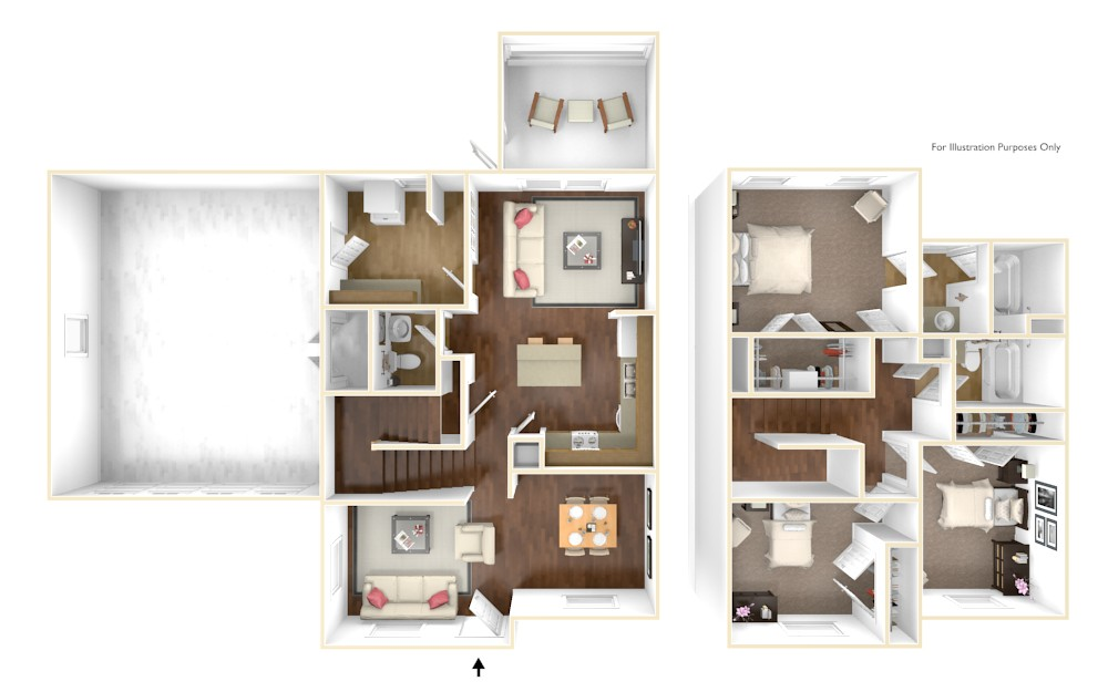 Nugent Cove Champagne 3D Floor Plan