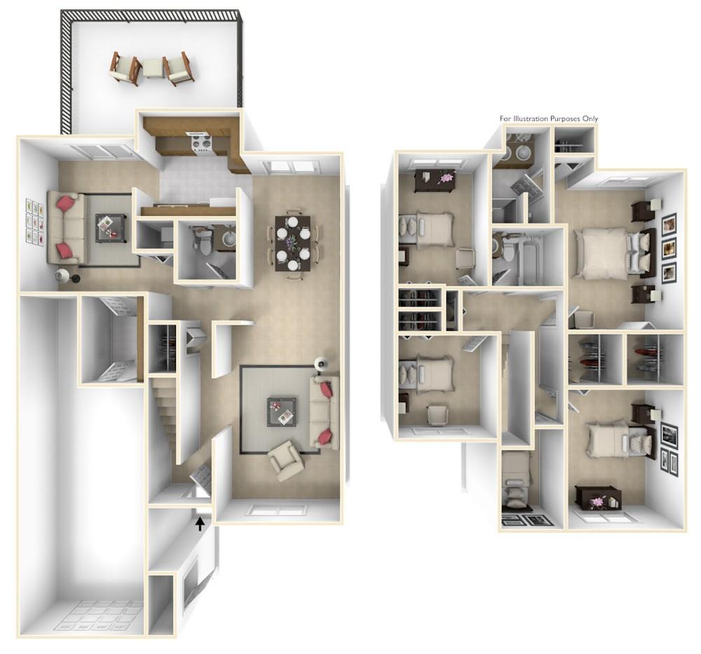 Grant\'s Landing Edwards 3D Floor Plan