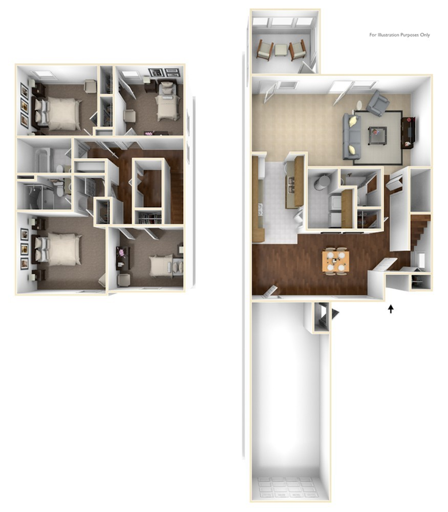 Binder Oaks Johnson 3D Floor Plan