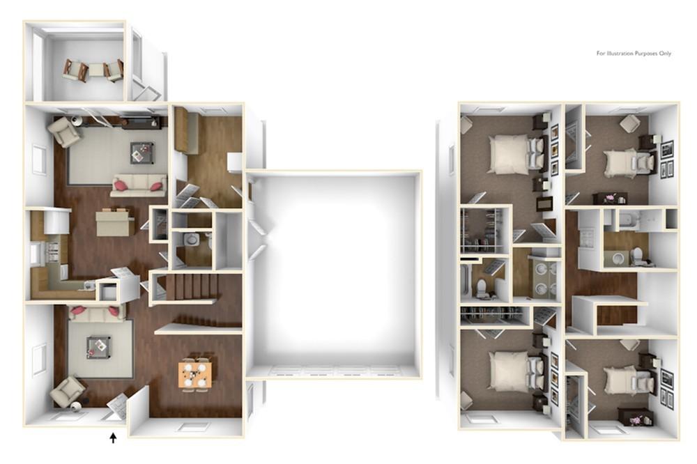 4 Bedroom Floor Plan | base housing cherry point nc | Atlantic Marine Corps Communities at Cherry Point