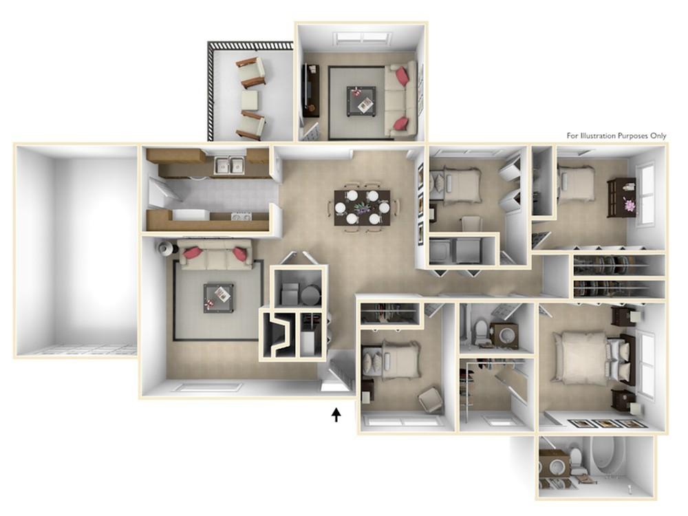 Grant\'s Landing Kennedy 3D Floor Plan