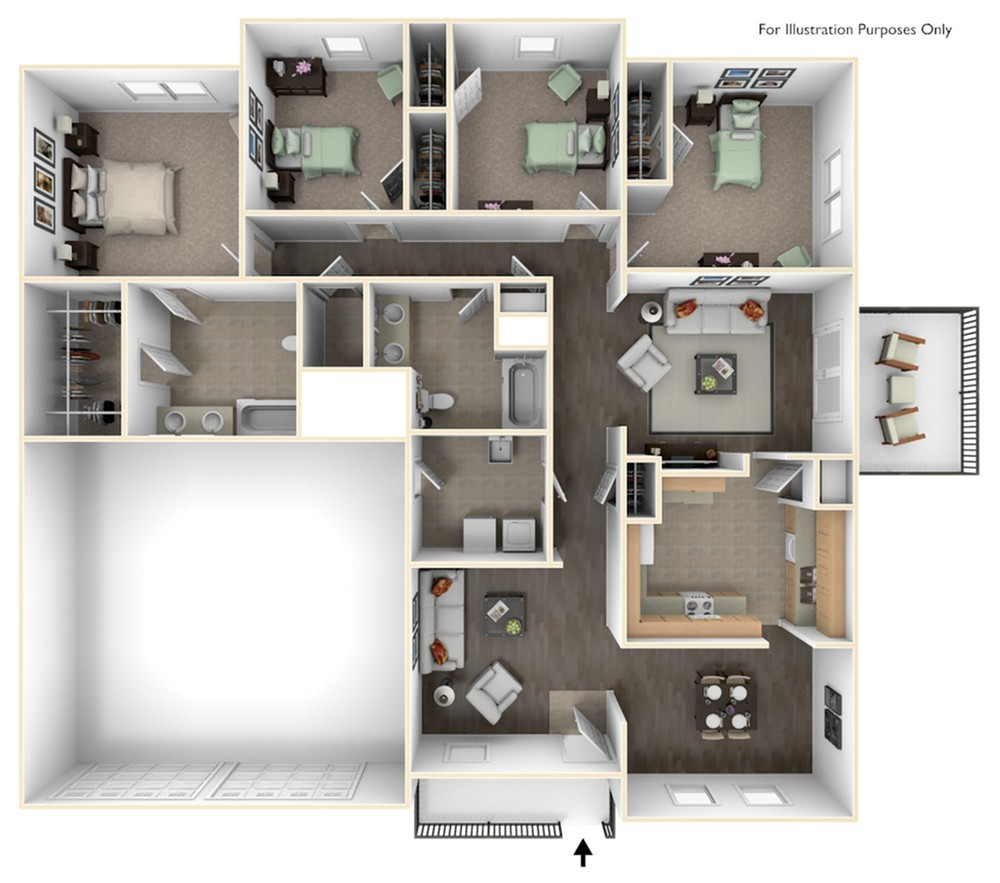 Rarely available Porter ADA floorplan serving E6-E9 families located in the Upper Terrace