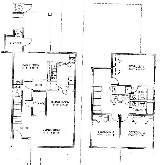 OAHU - 3 Bedroom 2 Story Multiplex Home
