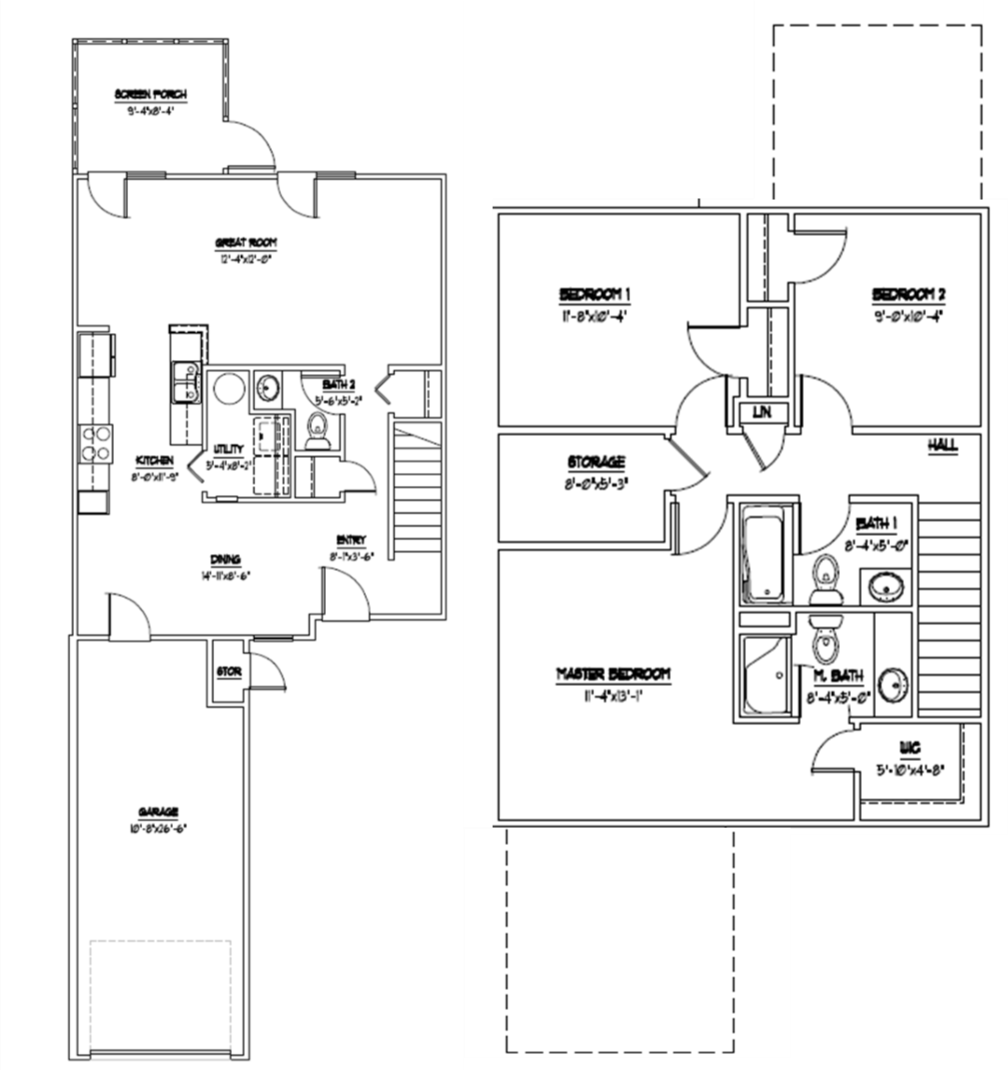 3 Bedroom Floor Plan | Havelock Nc Rentals | Atlantic Marine Corps Communities at Cherry Point