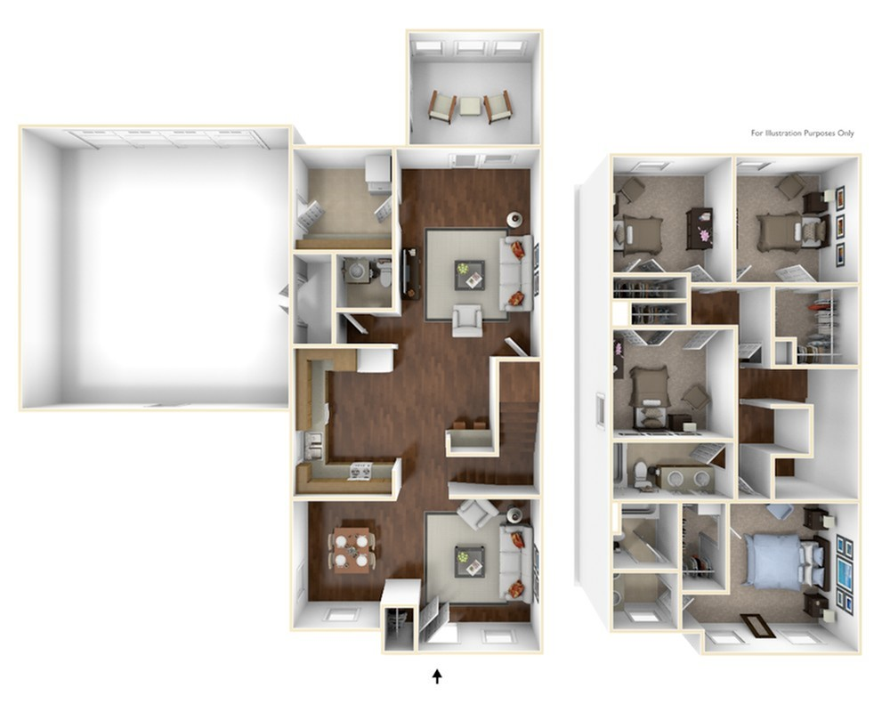4 Bdrm Floor Plan | camp lejeune housing | Atlantic Marine Corps Communities at Camp Lejeune