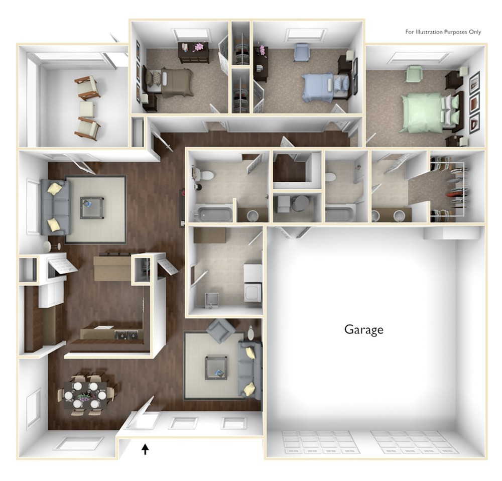3 Bdrm Floor Plan | camp lejeune housing | Atlantic Marine Corps Communities at Camp Lejeune
