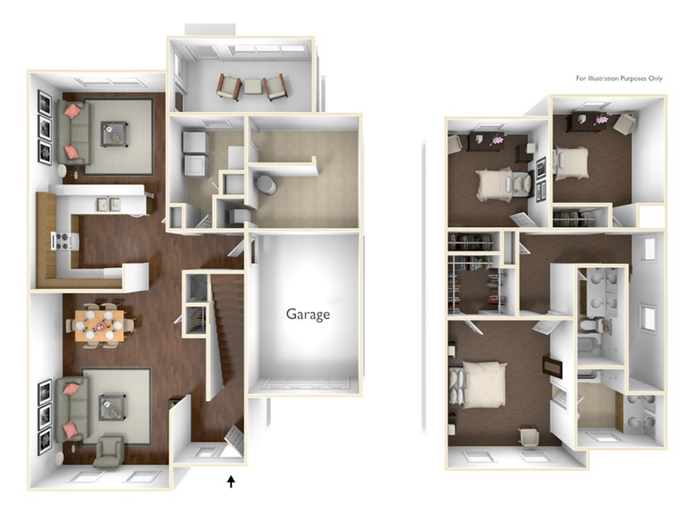 3 Bdrm Floor Plan | Laurel Bay Freedom Sound | Atlantic Marine Corps Communities at Tricommand