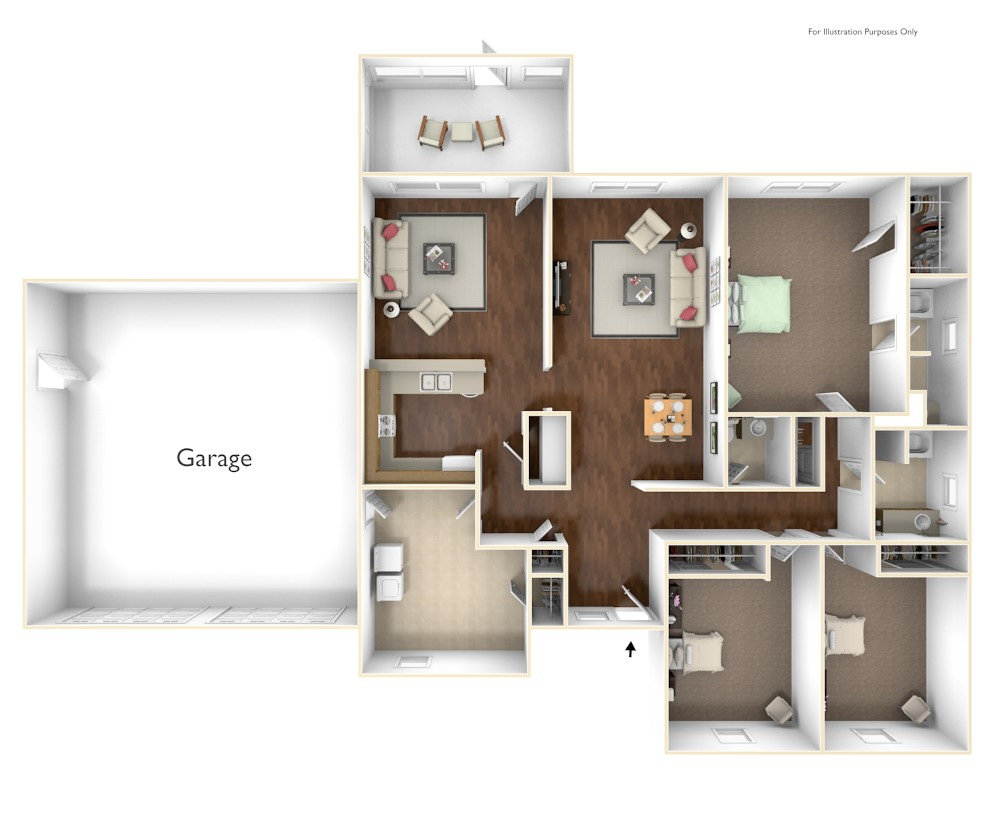 3 Bdrm Floor Plan | Parris Island Weapons Sound | Atlantic Marine Corps Communities at Tricommand