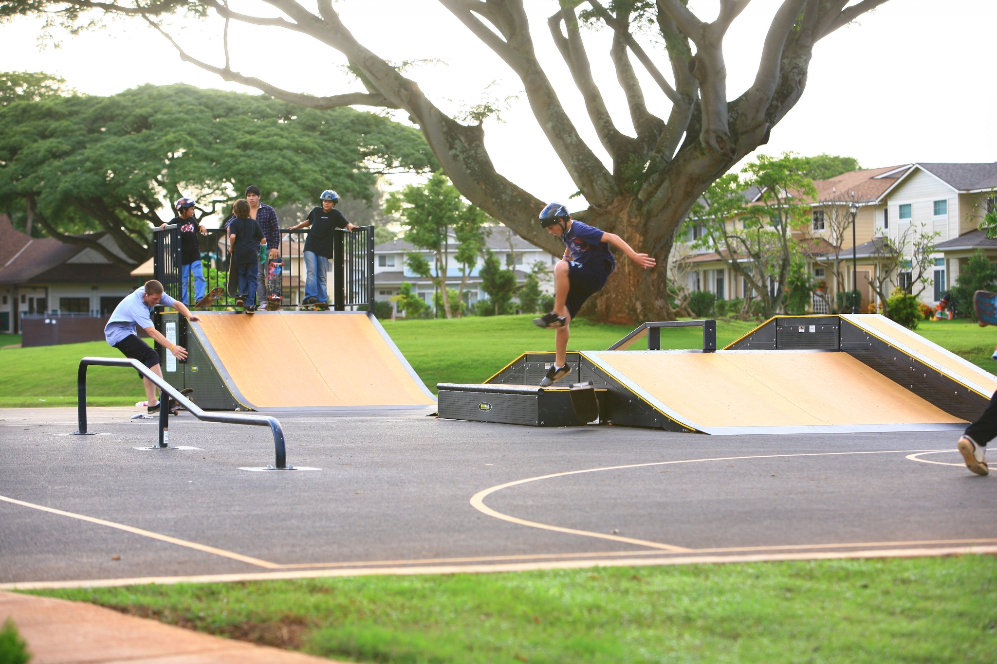 Skate Park | Aliamanu Military Reservatioin | Community Amenity | Island Palm Communties | Hawaii Army Housing for Rent