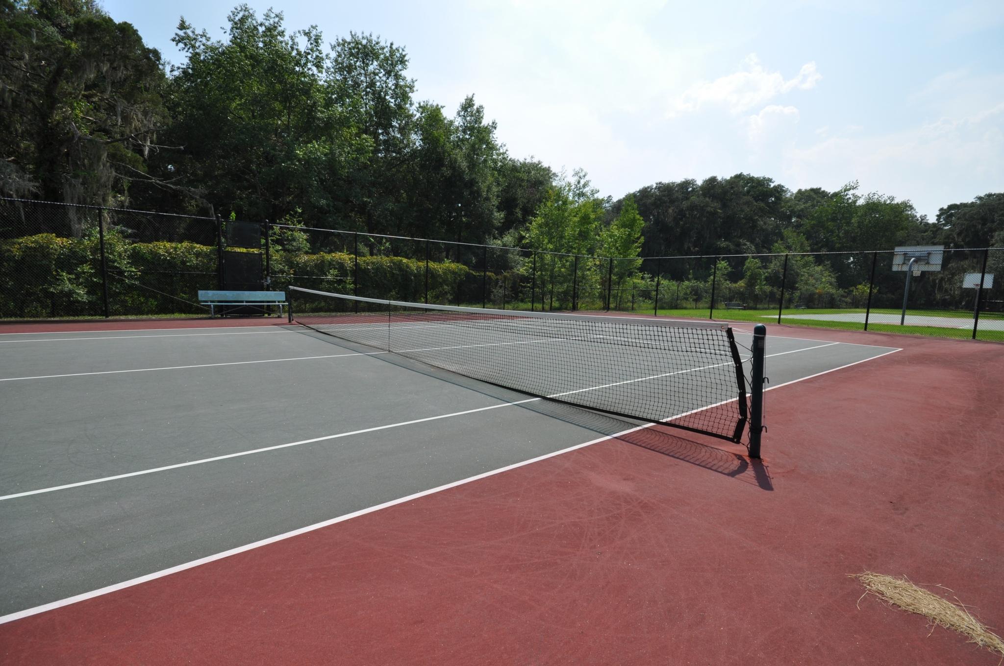Tennis Court | Exterior Tennis Court | Outside Court | Naval Hospital Beaufort Sports |