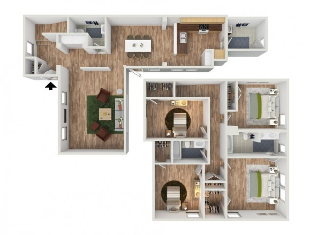 4bd Townhome