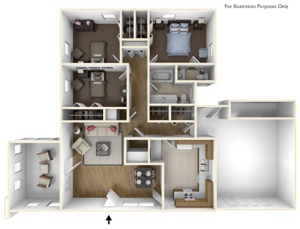 3 Bedroom Brewster l in Laurel Bay