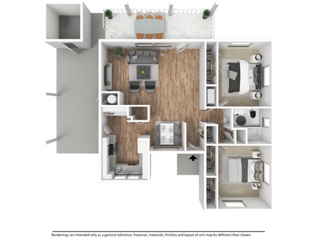 2 Bedroom 1ba