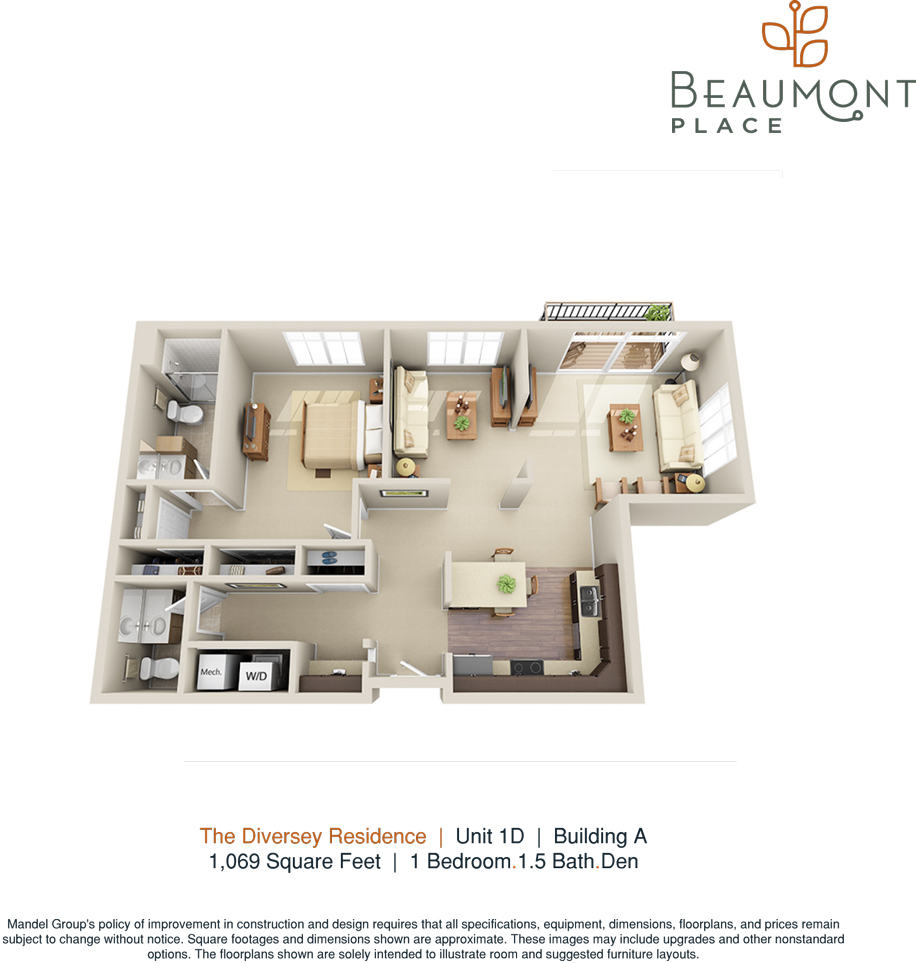 1 Bed / 1.5 Bath Apartment in WHITEFISH BAY WI | Beaumont Place ...