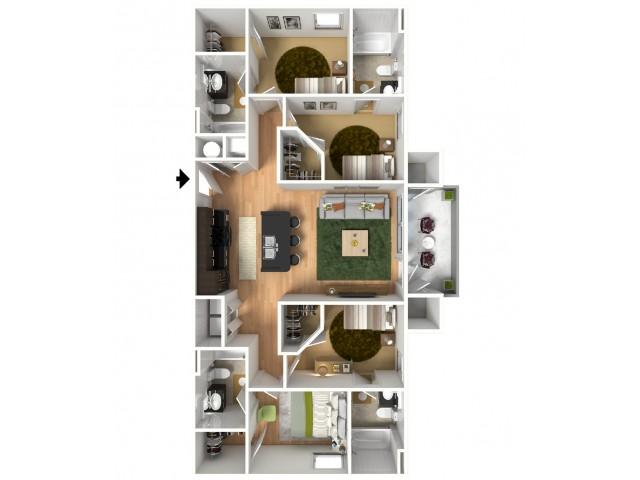 For The 4 Bedroom Flat Floor Plan.