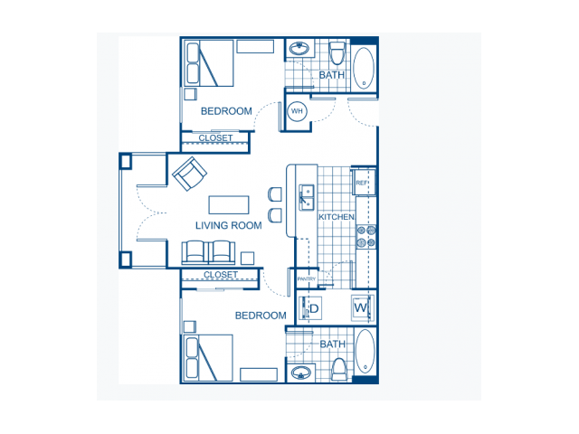 A two bedroom apartment.