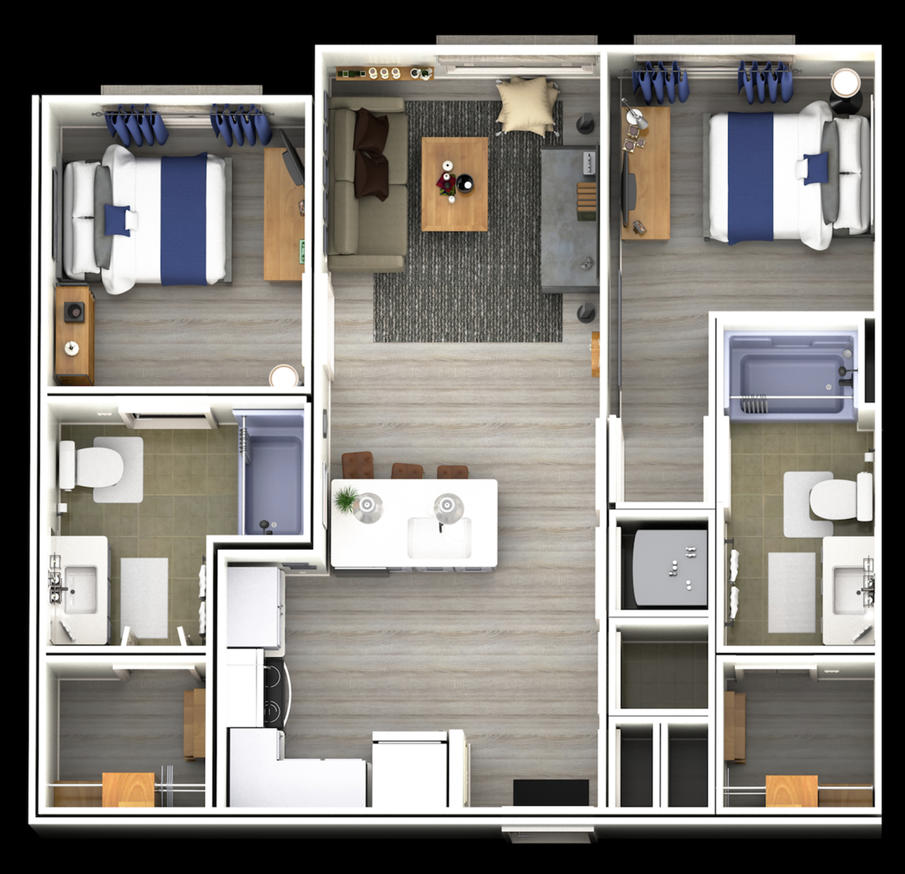 A two bedroom, two bathroom apartment | Apartments in Knoxville, TN | Flagship Kerns