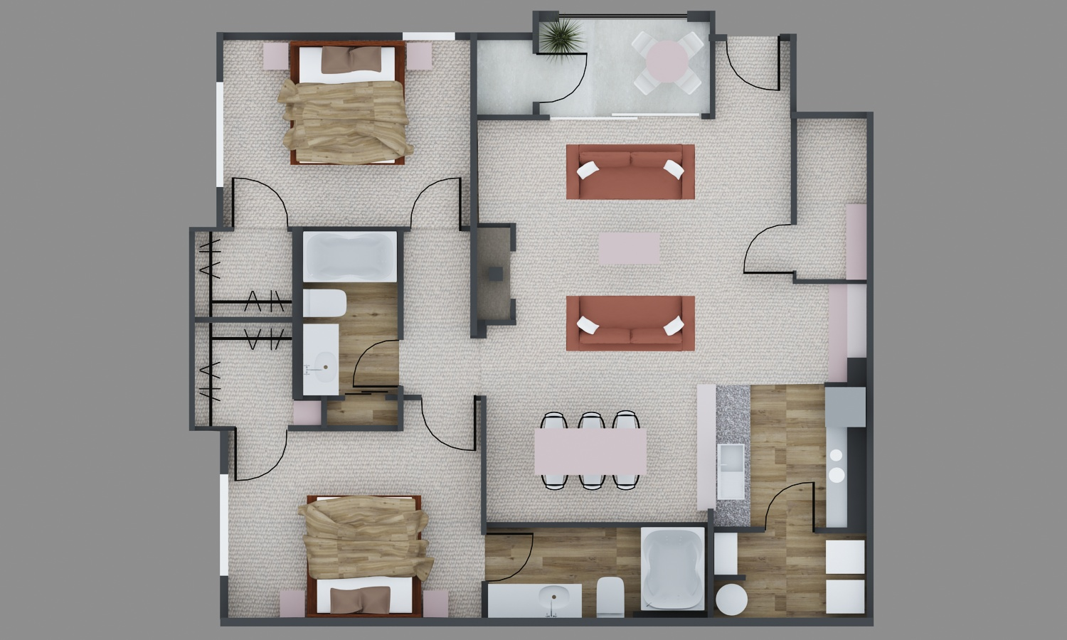 2 bed 2 bath apartment in richardson tx breckinridge point for Richardson homes floor plans