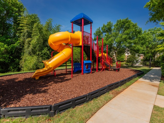 Image of On-Site Playground and Dog Park for Hideaway Lake Luxury Apartments