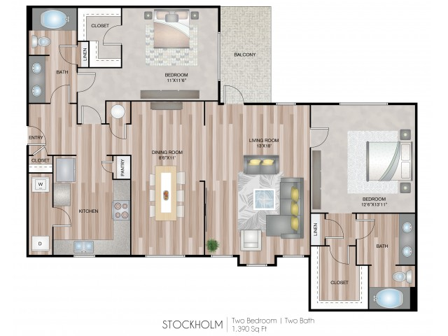 2 Bed / 2 Bath Apartment in DUNWOODY GA | Notting Hill ...