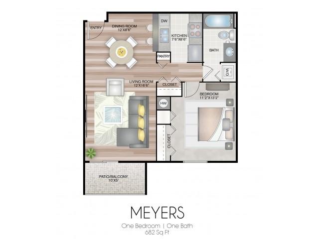 682 square feet