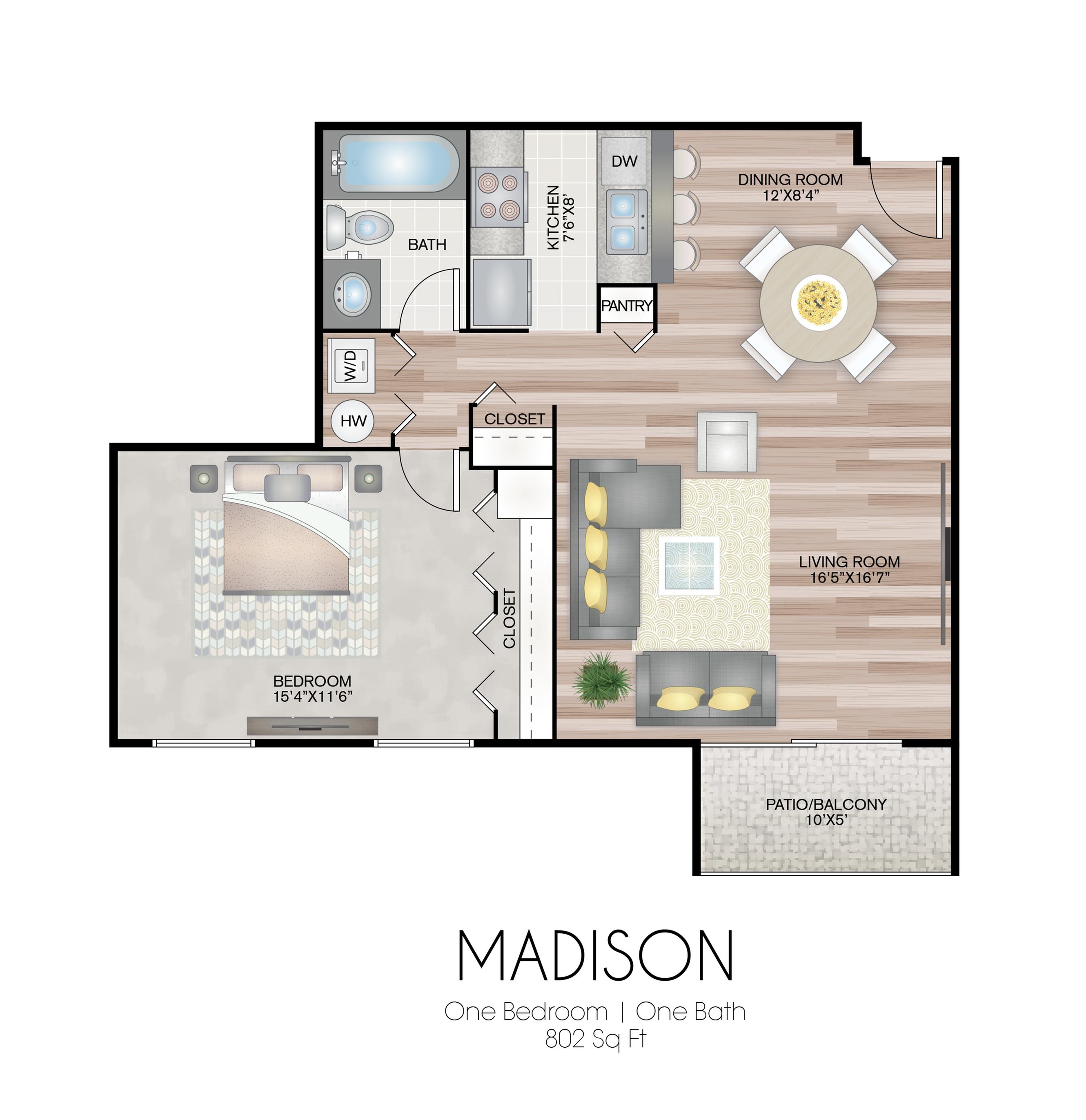 801 square feet