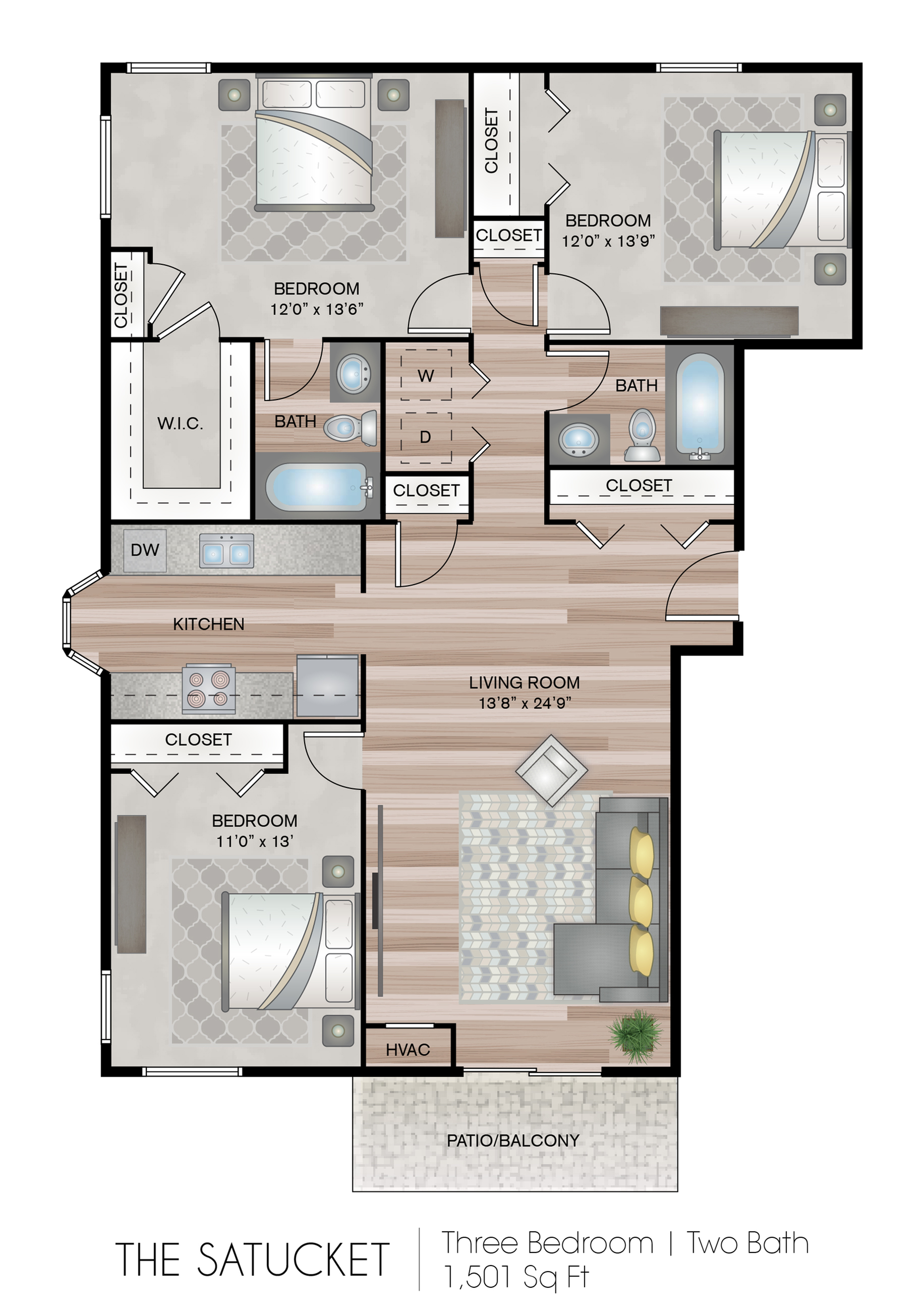 3 Bedroom Apartment
