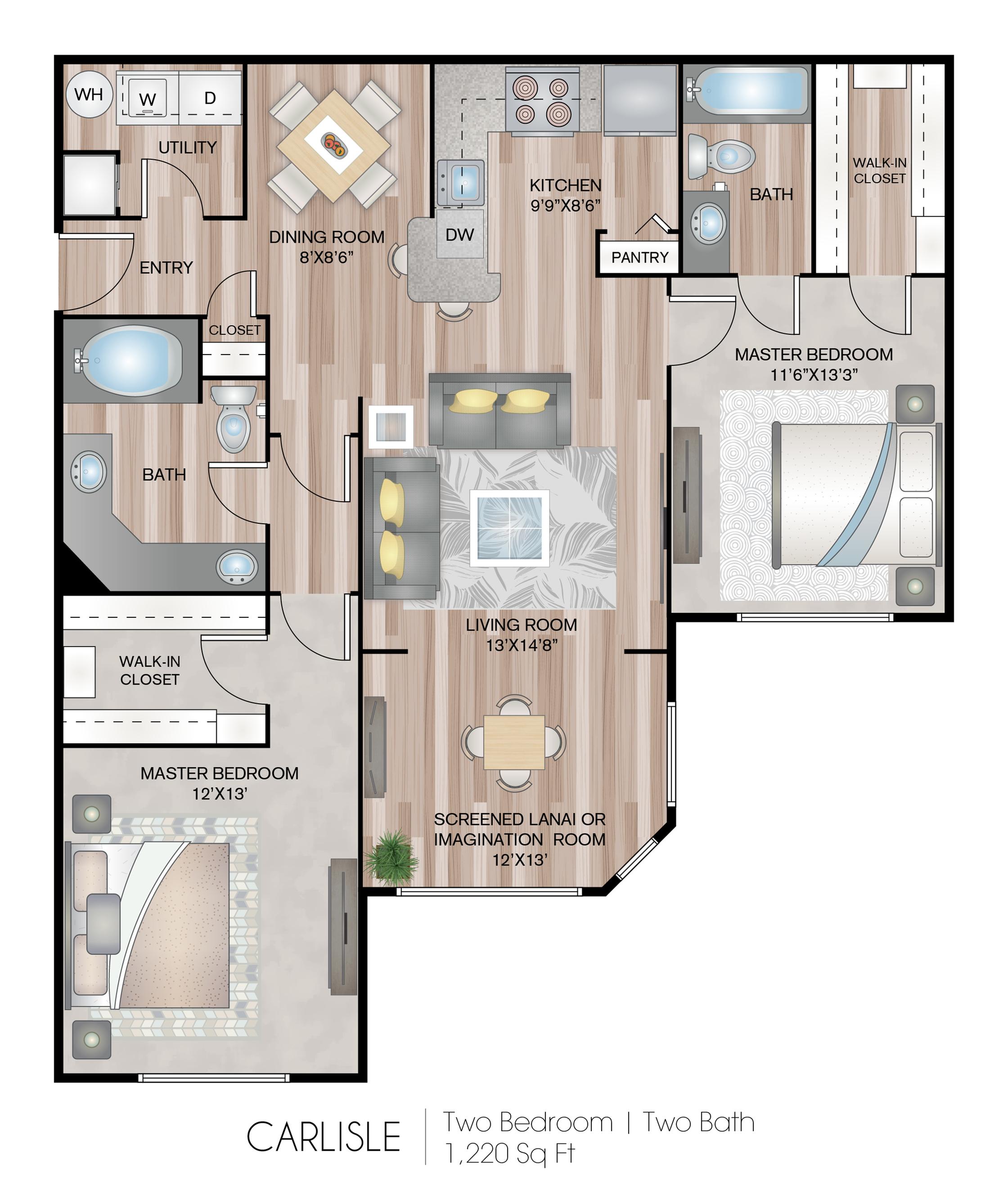 2 Bed / 2 Bath Apartment In Oviedo FL
