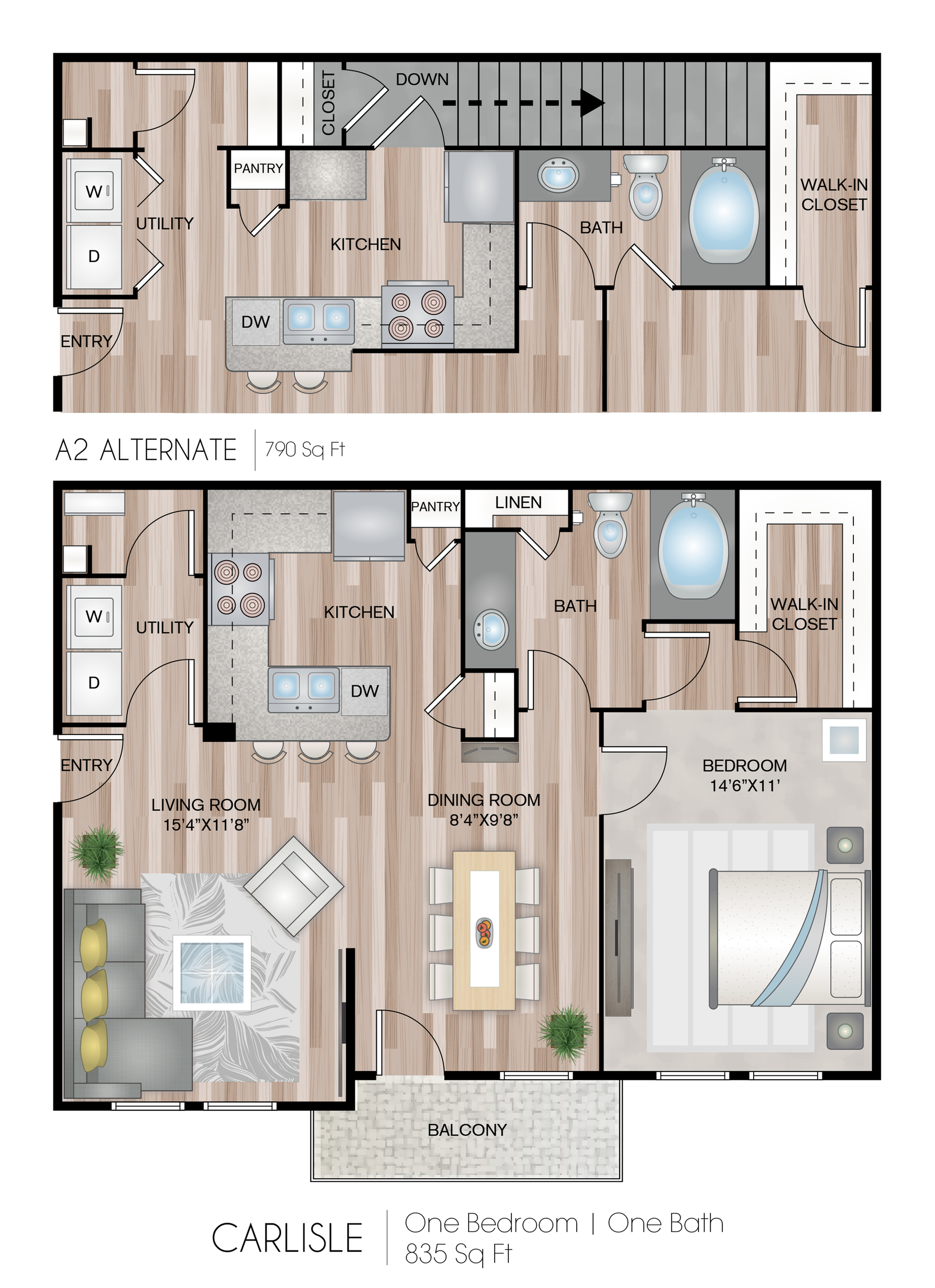 Carlisle With Garage 1 Bed Apartment Jefferson At Westtown