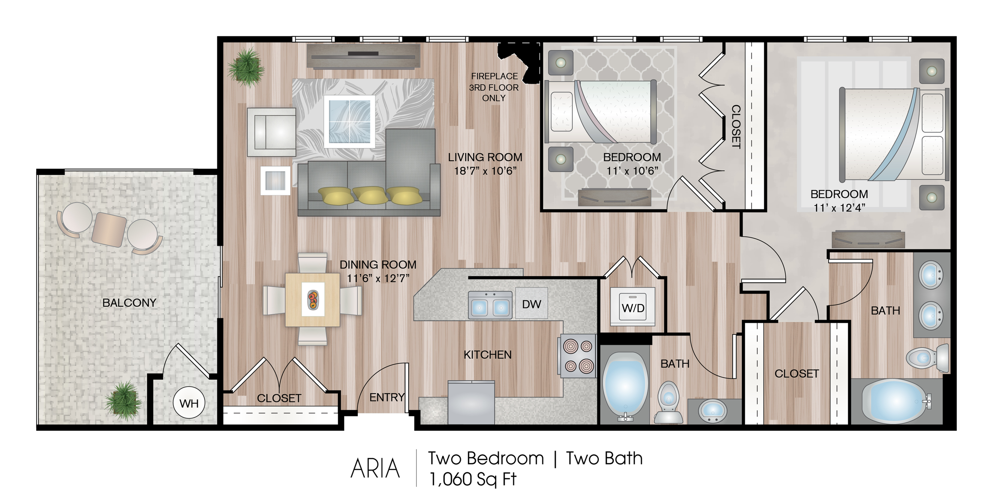 Aria 2 Bed Apartment Serenade At Riverpark Luxury Apartments In Oxnard Ca Serenade At River Park