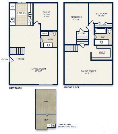 floor plan presidential suite townhome