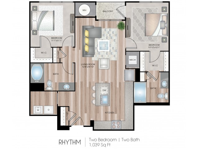 2 Bed Floor Plan
