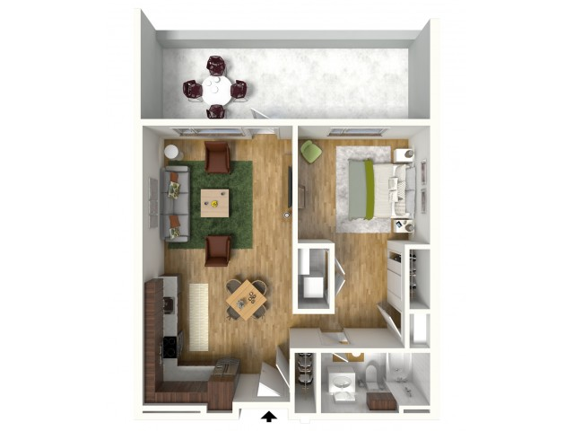 One Bedroom Alcove