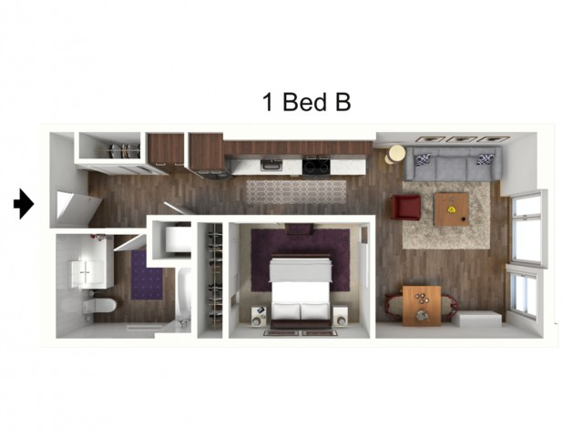 One Bedroom B