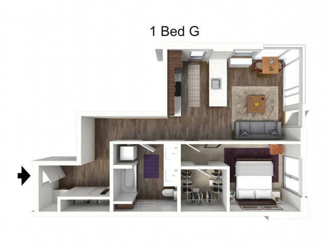 One Bedroom G